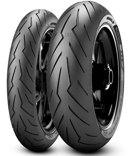 Kit Cubiertas Pirelli 120 70 + 190 50 17 Diablo Rosso 3 Fas