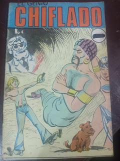 El Genio Chiflado No.4 Comic Año-1974 Bufete Historietista