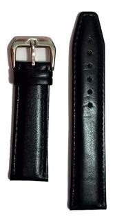 Pulseira Para Relógio De Couro Legítimo Encaixe 22mm Preta