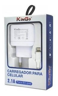 Kit Carregador Tomada E Cabo Para iPhone Kingo 2.1 Amperes