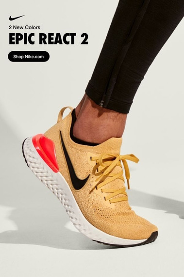 Zapatillas Nike Running Epic React Flyknit 2 Club Gold Us8