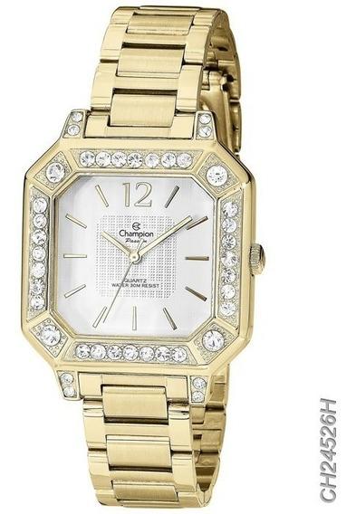 Relógio Feminino Champion Dourado Ch24526h Original Oferta