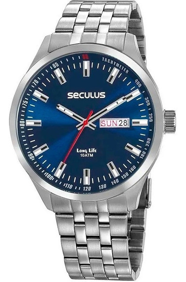 Relógio Seculus Masculino Prateado Long Life 20798g0svna1