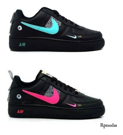 Combo C/2 Tenis Aiirr Force Mulher Cores Voce Na Moda
