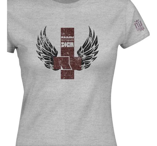 Camiseta Rammstein Simbolo Metal Banda Dama Mujer Ikgd