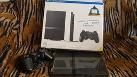 Playstation 2 Slim Preto Novinho Na Caixa + 1 Controle