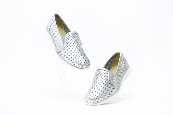 Zapatos Bonitos Dama Flexi 28202 Plata 100% Originales!!
