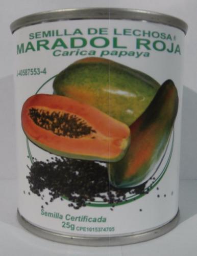 Semillas De Lechosa Maradol Roja. Lata De 25 Gramos.