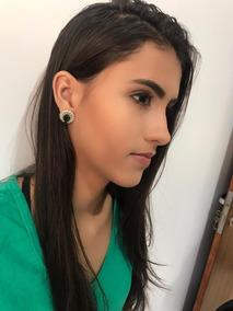 Promocao Brinco Esmeralda Feminino Frete Gratis