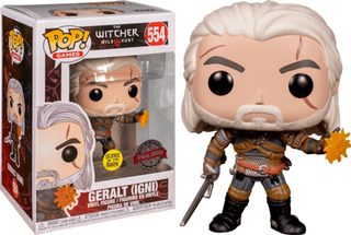 Funko Pop Geralt Igni Glow In The Dark Exclusive