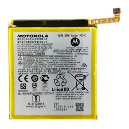 Imagen 1 de 4 de Bateria Moto G8 Plus Kd40 Orig