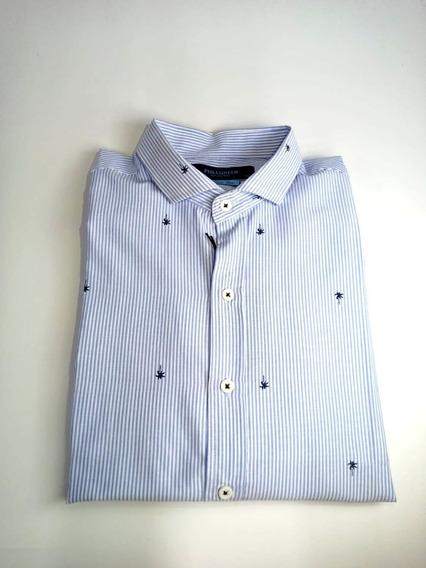 Camisas Entalladas Hombre Slim Fit Manga Larga Phillgreen