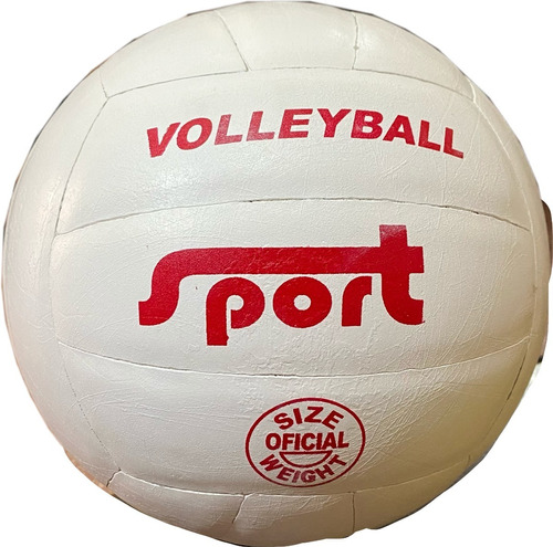 Imagen 1 de 2 de Pelota Voley Sport Cuero Natural Voleibol Volleyball