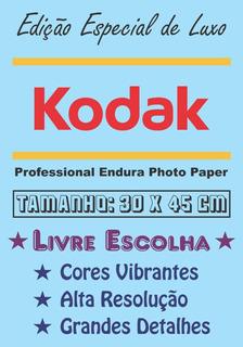 5 Pôsteres Papel Fotográfico Kodak Livre Escolha - Combinar