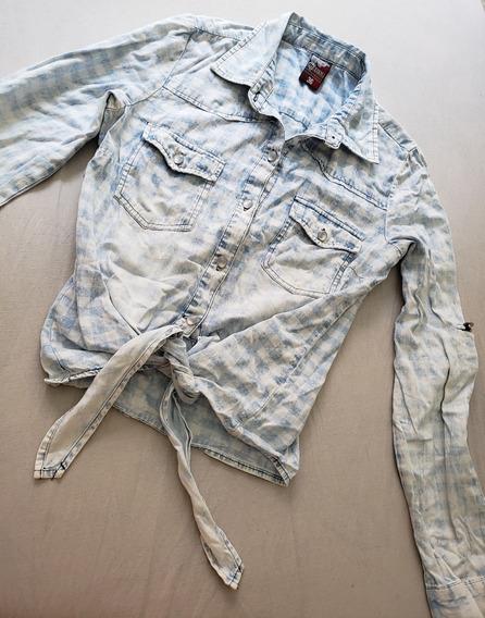 Camisa Feminina Jeans Nó Marisa Preço De Bazar