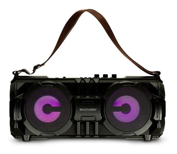 Caixa Som Bazooka Bluetooth Sd Usb Aux Fm Mic 100w Rms Preta