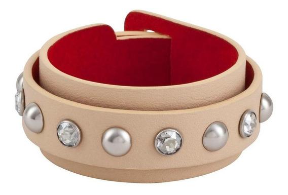 Double Wrap Bracelet, Swarovski Thick - Cor Prata