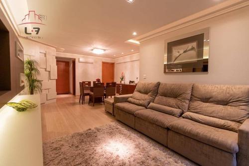 Apartamento Com 3 Dormitórios À Venda, 122 M² Por R$ 997.000,00 - Batel - Curitiba/pr - Ap0907