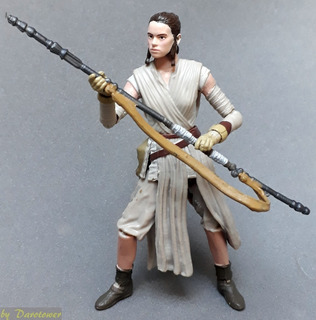 Star Wars - Black Series - Rey 10cm Como Nueva Completa