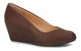 Zapatos Flats Mujer Andrea Altura 6.5 Textil Café 2517704
