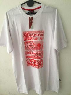 Camiseta River Oficial Adulto Algodón Con Licencia Oficial .