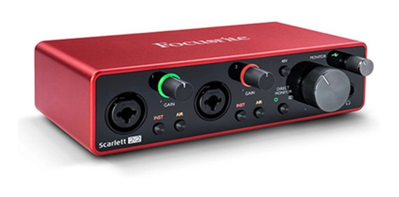 Interface De Audio Focusrite Scarlett 2i2 3 Geração Usb