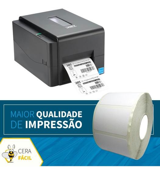 Rolo Bobina Etiqueta Adesiva 40x25 Impressora Térmica - 10un
