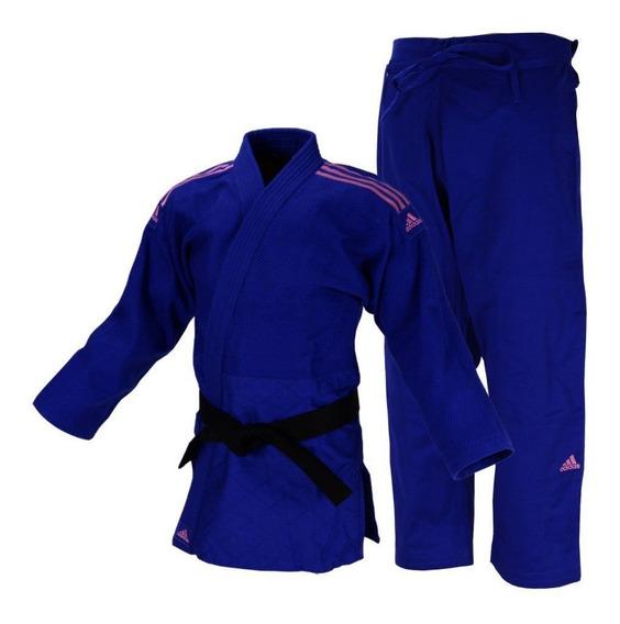 Kimono Judô Quest J690 Azul/rosa adidas