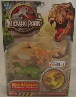 Jurassic Park 3 3/4 Dino Battlers Velociraptor Vs Spinosauru