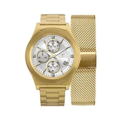 Relógio Technos Connect Srae/4p Dourado Frete Gratis