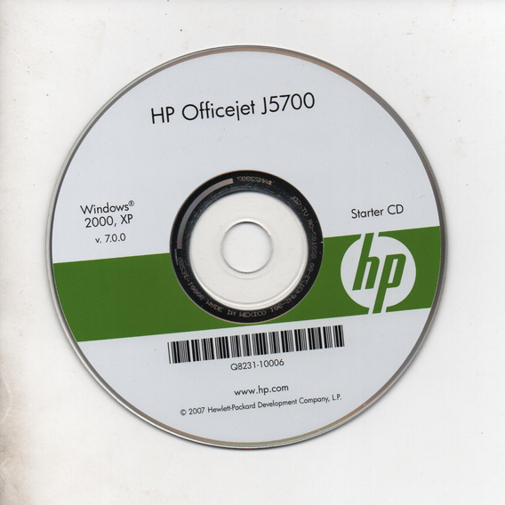 Cd - Instalação Impressoara Hp Officejet J5700- Frete Grátis