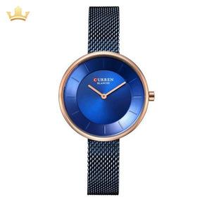 Relógio Feminino Curren Analógico C9030l Com Nf