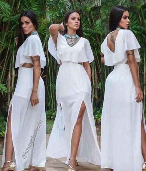 Vestido Longo Off Verão 2020 Moda Feminino