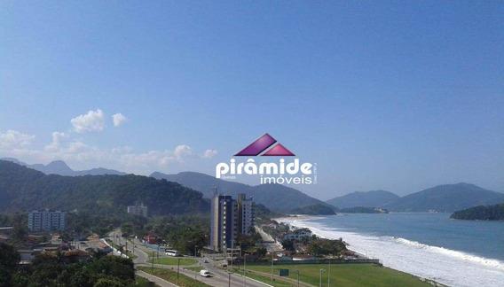 Apartamento Frente Mar, Andar Alto - Vista Mar Incrível, Com 3 Dormitórios/suíte À Venda, 92 M² Por R$ 360.000 - Massaguaçu - Caraguatatuba/sp - Ap11376