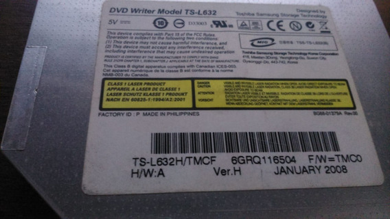 Drive Leitor Dvd Notebook Ts-l632h