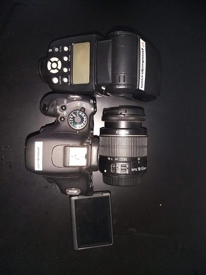 Canon Eos T3i + Lente 18-55mm + Flash