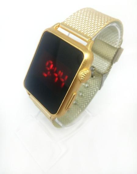 Relógio Feminino Digital Led Touch Quadrado