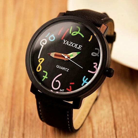 Relógio Feminino Yazole Promoção Análogico Novo Quartzo