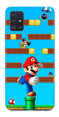 Imagen 1 de 10 de Funda Samsung A31 A21s A11 Nintendo Mario Bros 4
