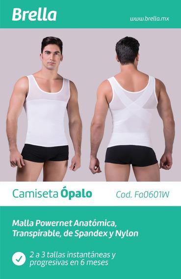 Camiseta Caballero Reductora, Postura Faja