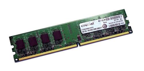 Imagen 1 de 1 de Memoria Ddr2 2 Giga Bus 800 667 Mhz Garantia 1 Año Nuevas