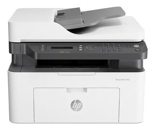 Impresora multifunción HP LaserJet 137FNW con wifi 220V blanca y negra