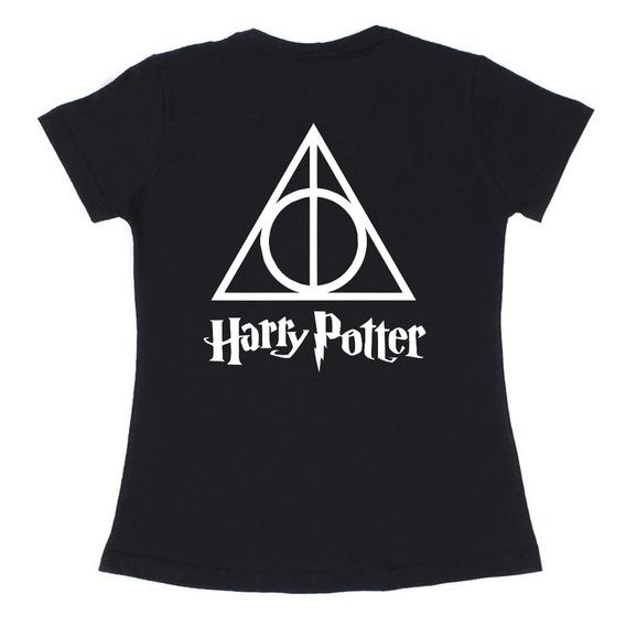 Baby Look Feminina Série Filme Harry Potter Camiseta