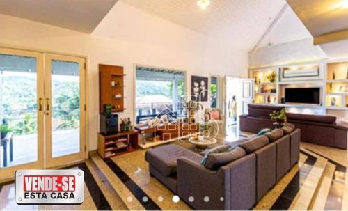 Casa Com 4 Dormitórios À Venda, 470 M² Por R$ 1.800.000,00 - Maria Paula - Niterói/rj - Ca1682