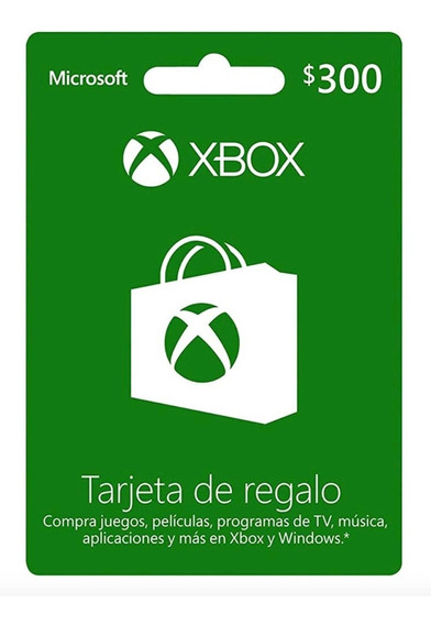 Tarjeta Xbox Gift Card De 300$