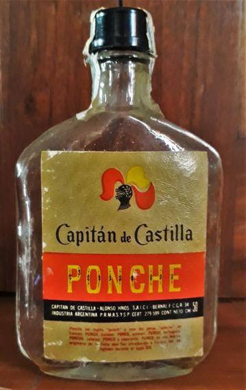 Miniatura Petaca Ponche Capitan De Castilla 1970 Vacía