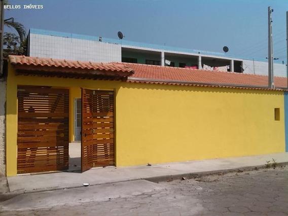 Casa Para Venda Em Itanhaém, Vila Nova Itanhaém, 2 Dormitórios, 1 Suíte, 2 Banheiros, 3 Vagas - 048