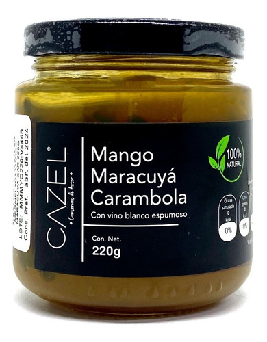 Mermelada De Mango Maracuyá, Carambola Y Cava Natural 220g