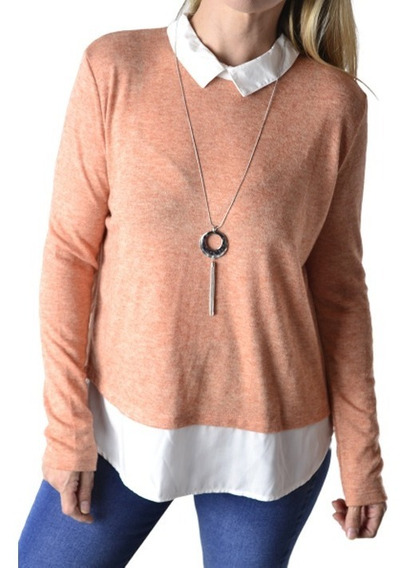 Sweater Con Camisa Mujer The Big Shop