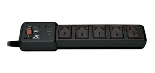 Imagen 1 de 9 de Protector De Tension 2200w Zapatilla 5 Tomas Normaliizado